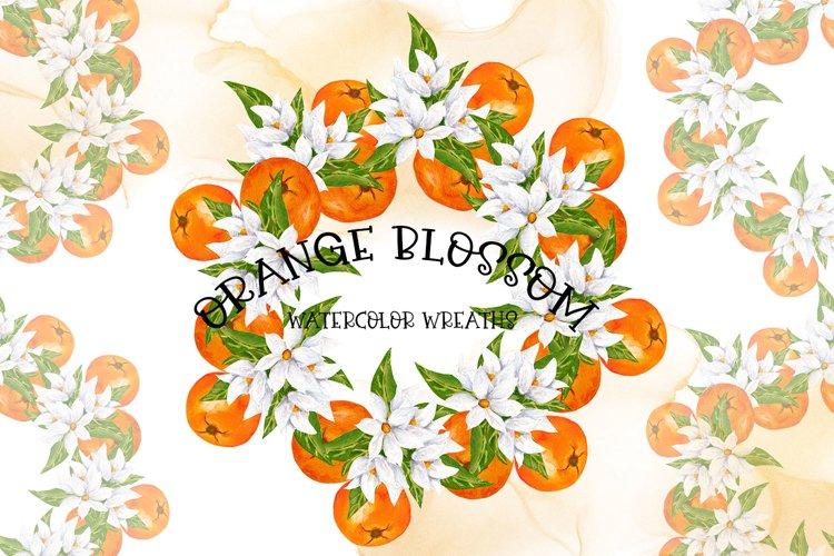 Orange Blossom-Watercolor Wreaths example image 1