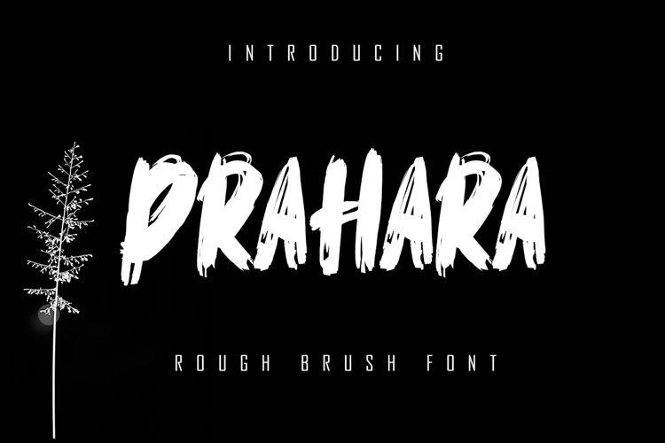 Prahara - Rough Brush Font example image 1