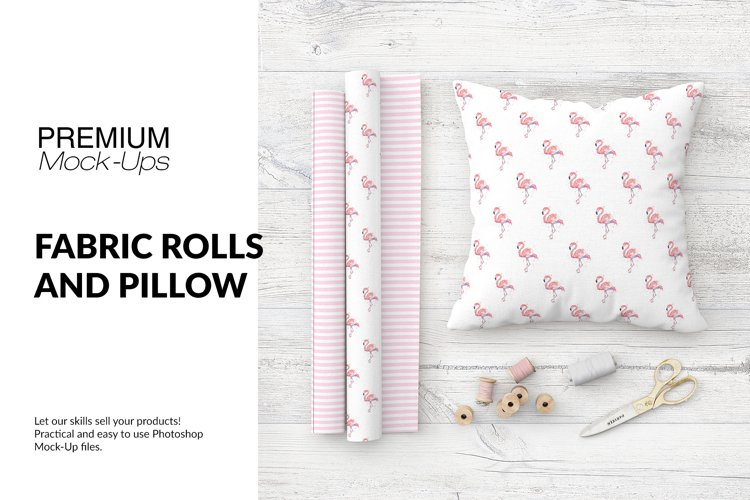 Fabric Rolls and Pillow Set example image 1