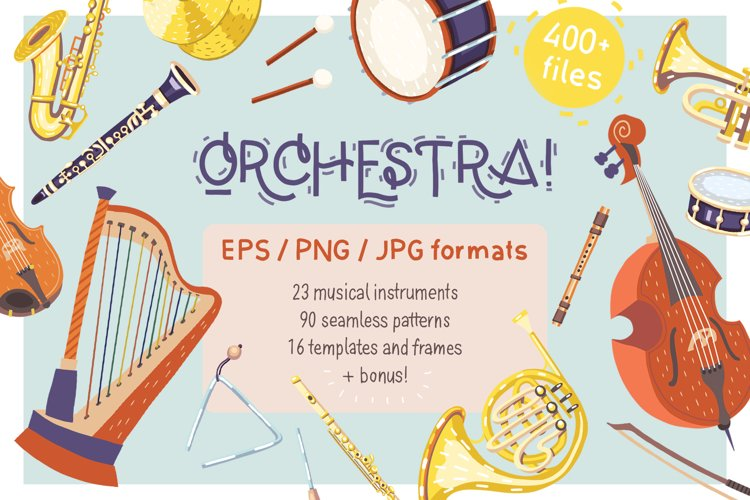 Orchestra! Set of vector musical instruments