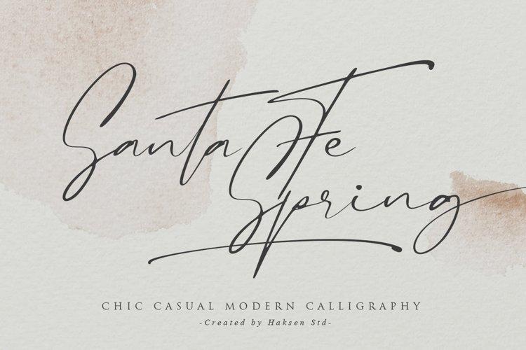 Santa Fe Spring / Chic Casual Script example image 1