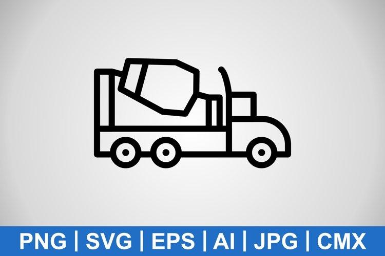 Vector Concrete Mixer Icon example image 1