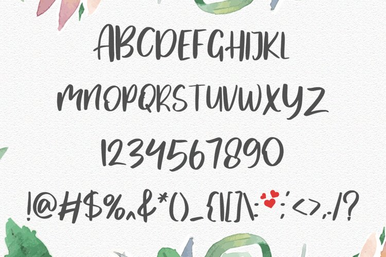 MyLove Font example 9