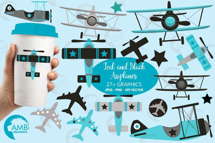 Airplane clipart, Airplane graphics, Biplane, Plane clipart, graphics, illustrations AMB-2268