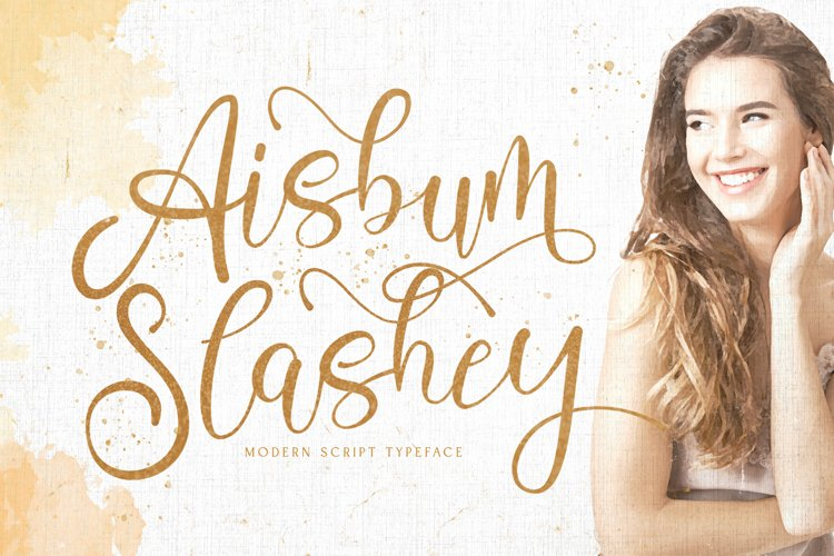 Aisbum Slashey - Modern Script Font example image 1
