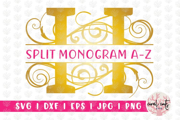Split Monogram Swirls - A to Z Split Monograms