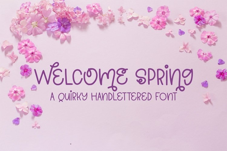 Web Font Welcome Spring - A Quirky Hand-Lettered Font example image 1