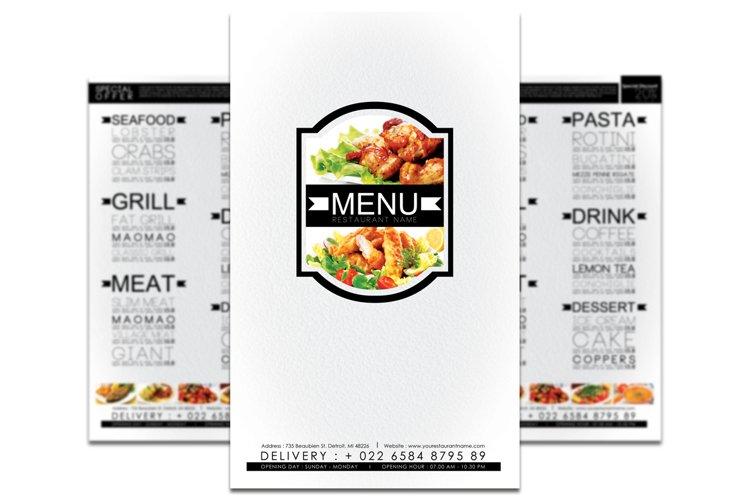 Minimalist Restaurant Menu example image 1