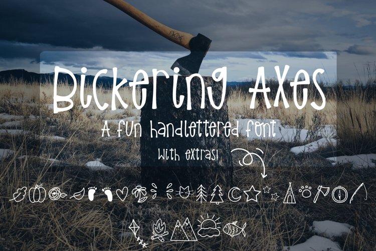 Bickering Axes - A fun outdoorsy font!