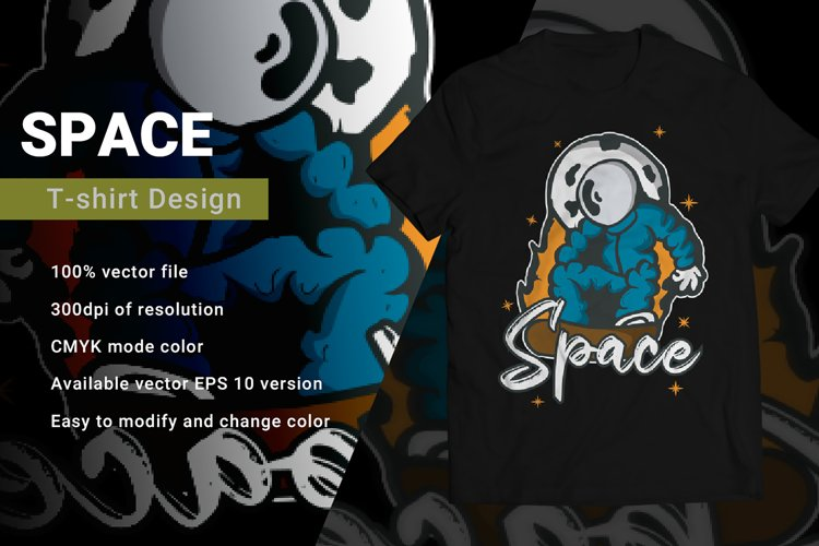 Space   T-Shirt Design example image 1