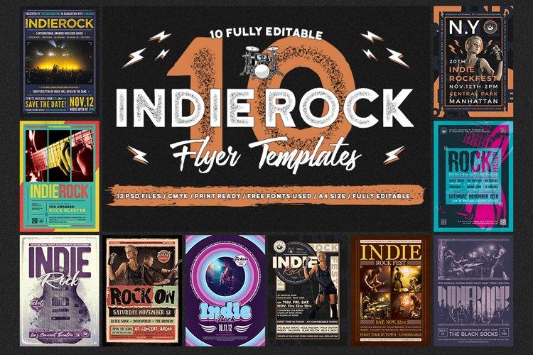 10 Indie Rock Flyer Bundle
