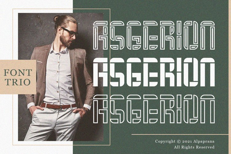 Asgerion - Display Font Trio