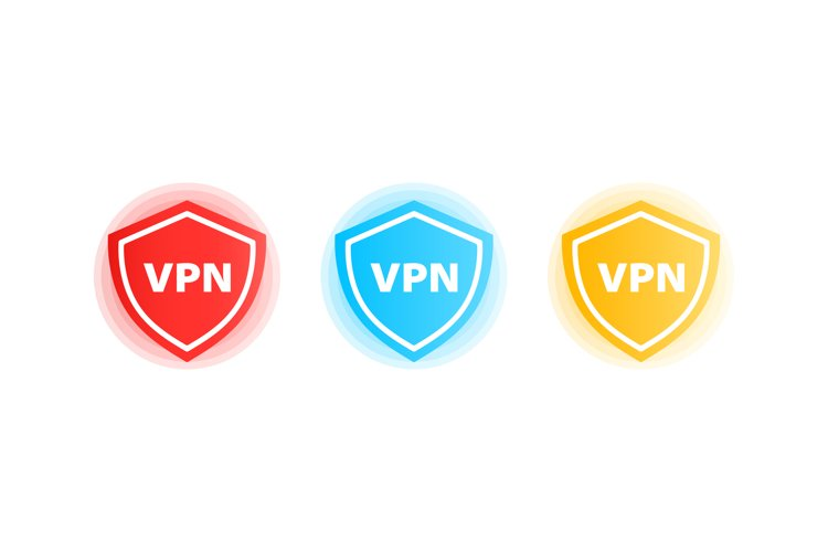 VPN icon set. Virtual private network. Vector EPS 10. example image 1