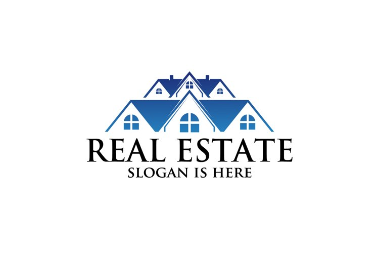 Real estate vector logo ,residential building property example image 1