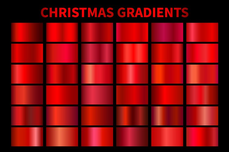 Red Christmas Gradients .AI, .GRD