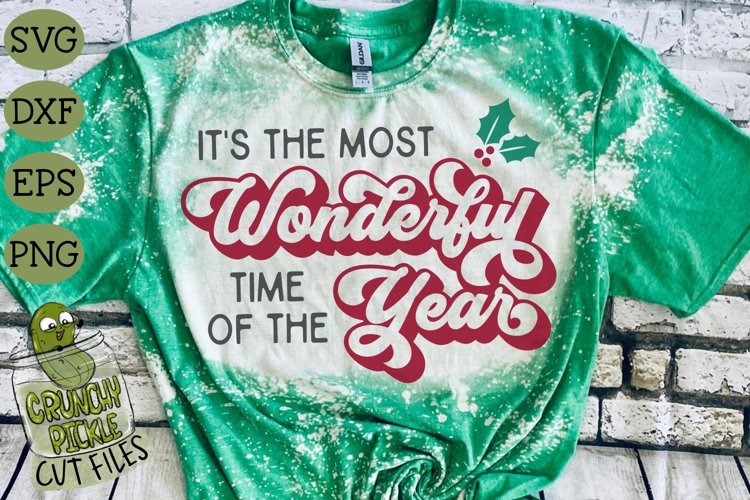 Most Wonderful Time of the Year Christmas SVG Cut File