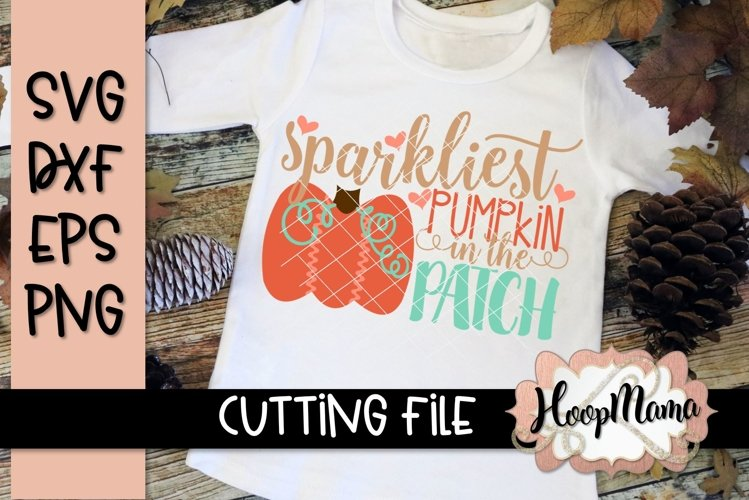 Sparkliest Pumpkin In The Patch - Thanksgiving SVG Cu example image 1