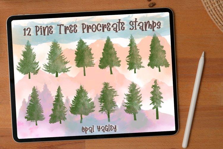 12 Pine Tree Procreate Stamps / Procreate Brushes
