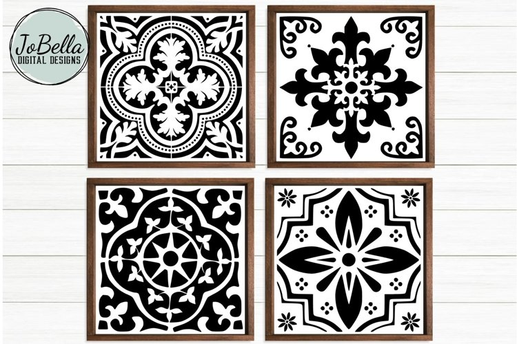 Spanish Tile SVG Bundle, Sublimation & Printable Designs