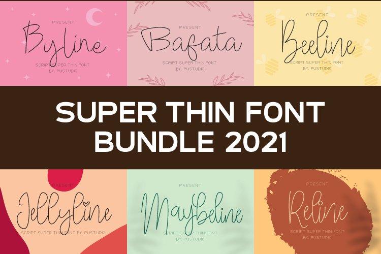 Bundle Super Thin Script - Hairline Font 2021
