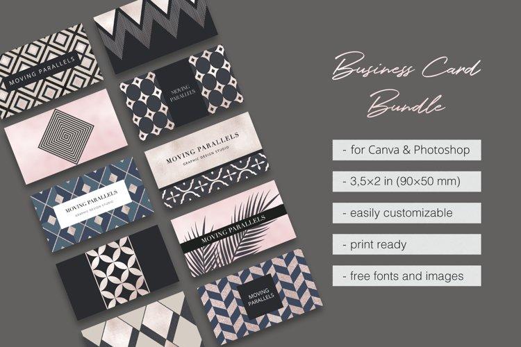 Geometric Elegant Gold Business Card Templates Bundle