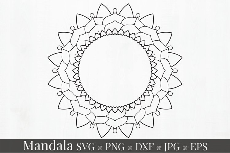 Mandala Art SVG Ornament example image 1