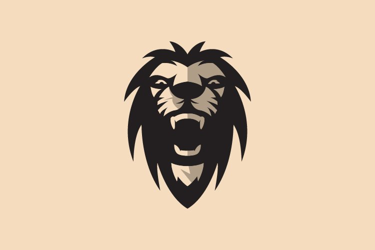 Abstract lion face logo template - Eps 10 example image 1