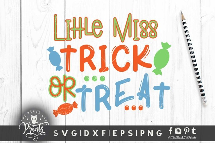 Little miss Trick or Treat SVG DXF PNG EPS