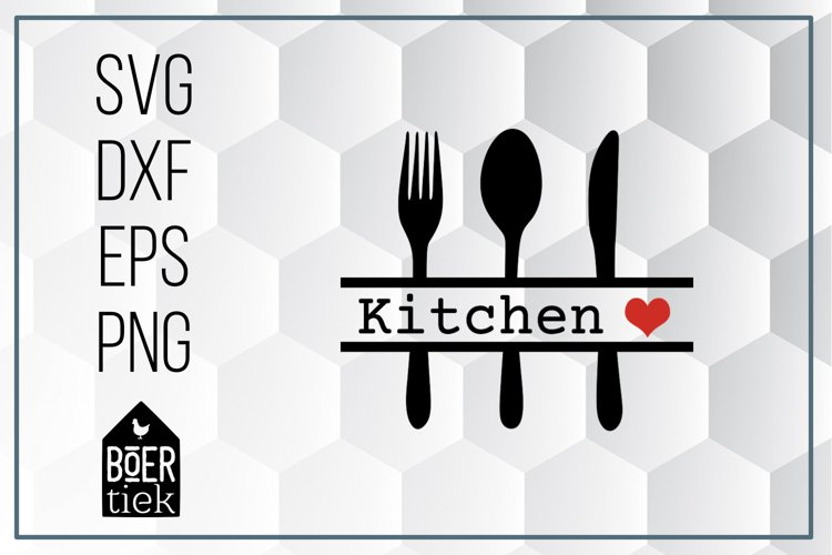 Kitchen cutlery, SVG cutting file