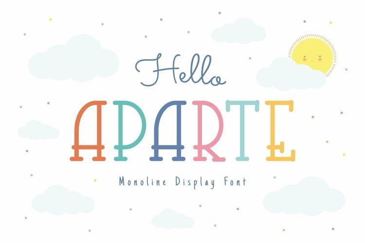 Web Font Aparte Font example image 1