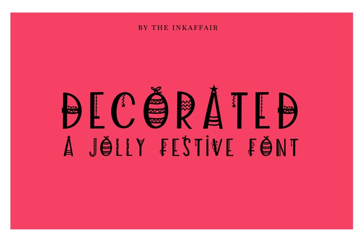 Decorated - a jolly christmas font