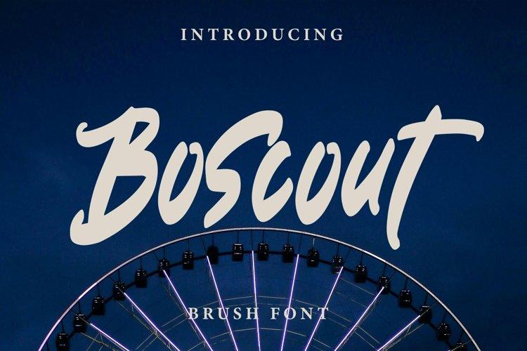 Web Font Boscout - Brush Font example image 1