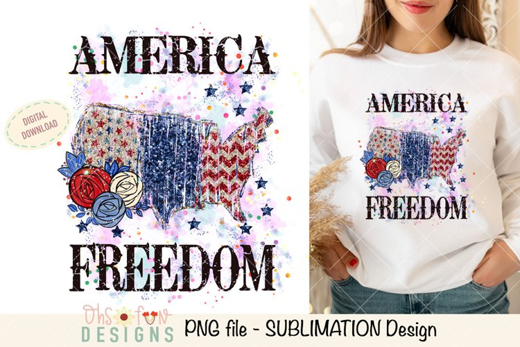 Sublimation US map animal print   red white and blue glitter example image 1