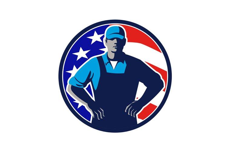 American Organic Farmer USA Flag Mascot example image 1
