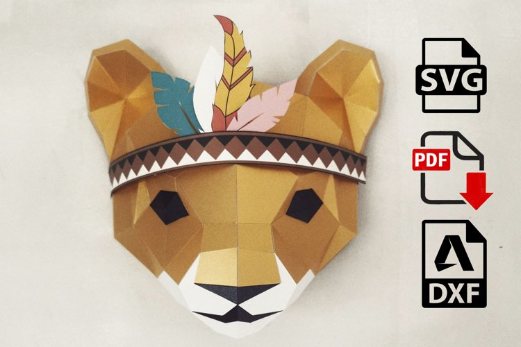papercraft lion,little paper lion,dziva papera,papercraft 3d
