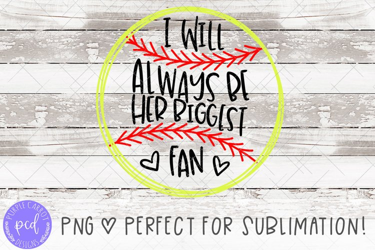 Baseball Biggest Fan Hand-Drawn Sublimation File example image 1