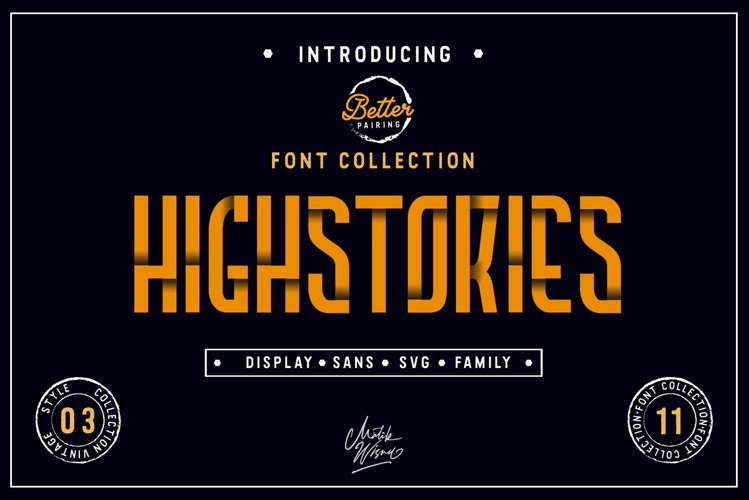 Highstories Family / Extra SVG Font example image 1