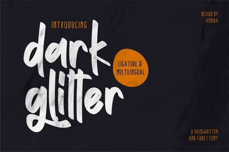 Dark Glitter | Handwritten And Fancy Font example image 1