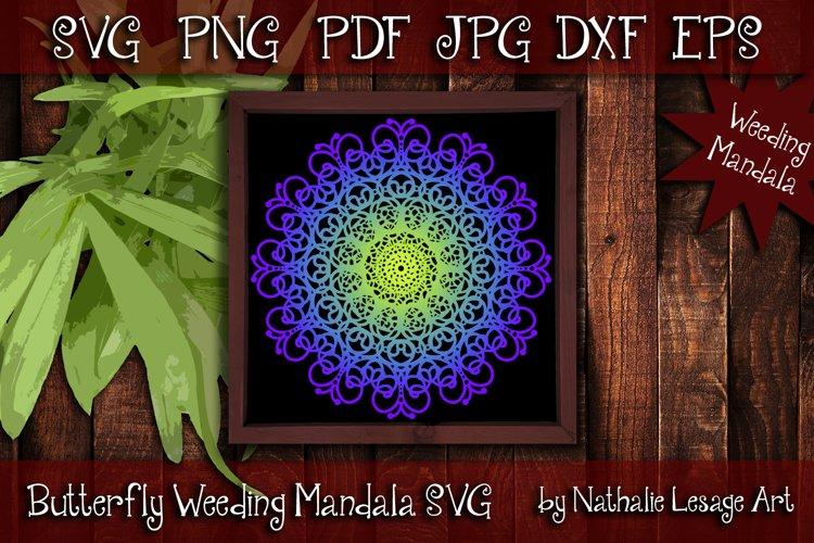 Butterfly Mandala SVG Zentangle Style File Sublimation Art example image 1