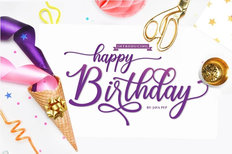 Happy Birthday // Pretty font example image 1