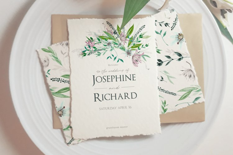 Photorealistic hand made paper mockup, flat lay template. example 3