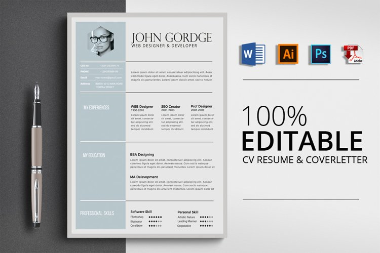 Word Resume CV Template example image 1