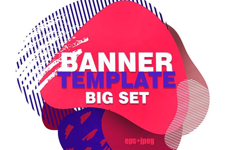 Banner instagram template big set example image 1