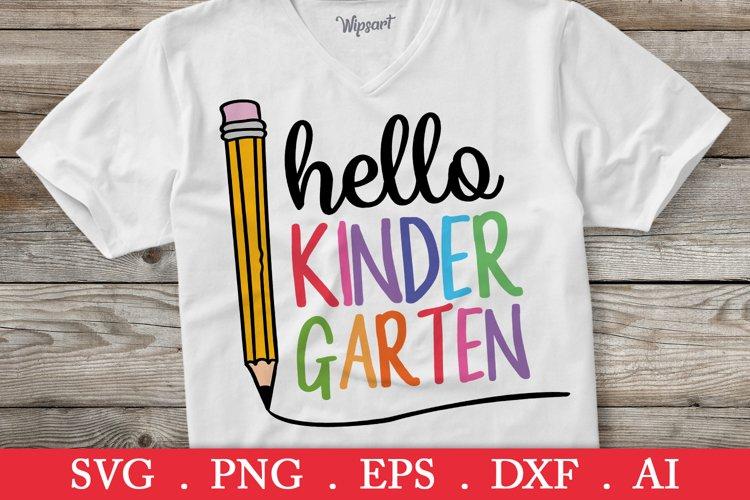 SALE! Hello kindergarten svg, back to school svg, school svg example image 1