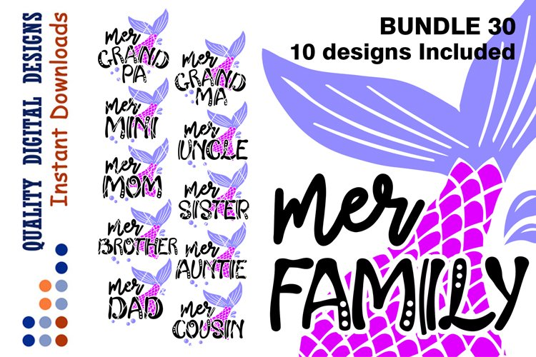 Big set 50 Off BUNDLE Mermaid Family shirts svg design