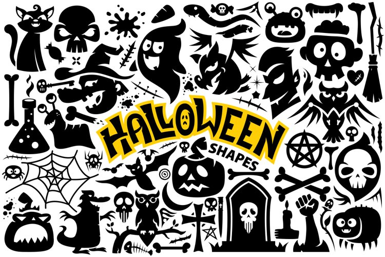Halloween Vector Shapes Collection example image 1
