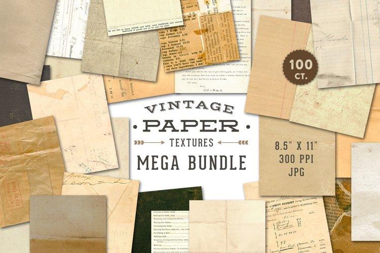 Vintage Paper Textures Mega Bundle example image 1