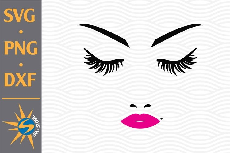 Woman Face, Eyelash SVG, PNG, DXF Digital Files Include