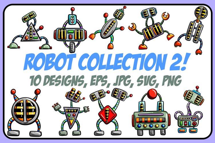 Crazy Robots 2! Cartoon Collection PNG, JPG, ESP, SVG Files! example image 1