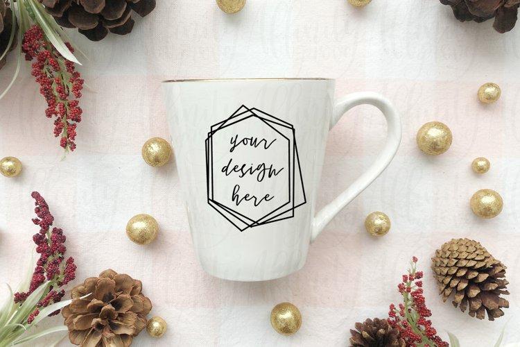 Seasonal Christmas Mug Mockup example image 1